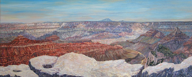 environmental art, oil panorama landscape painting, Grand Canyon