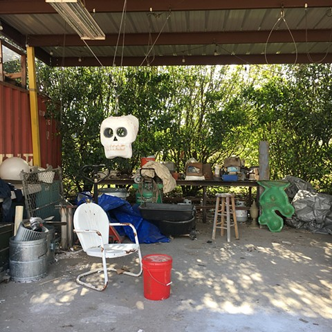 Outdoor Studio Space at Blue Genie Art Industries, Austin, Texas, November 13, 2020
