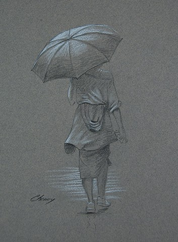 """Woman With Umbrella"""