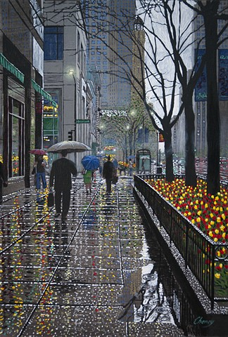 """Spring Rain on Michigan Avenue"""