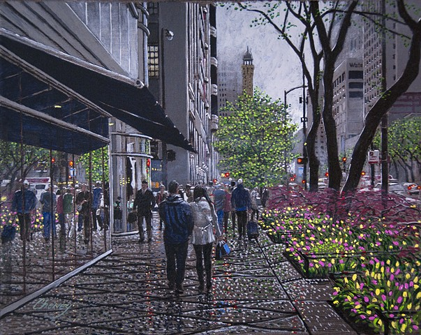 """Tulips on the Avenue"""