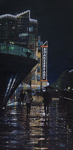 """Rainy Evening on Navy Pier"""
