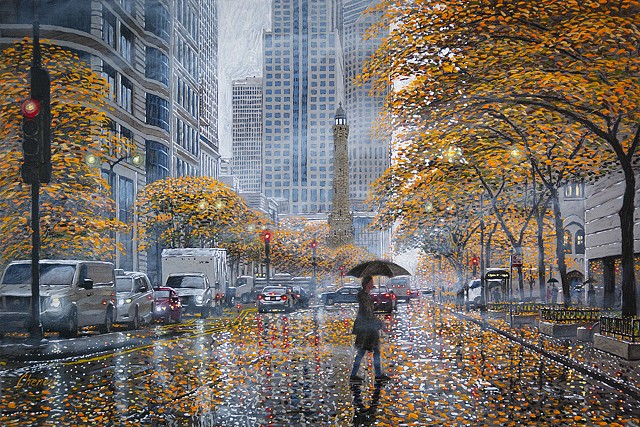 """Autumn Mist in Chicago"""