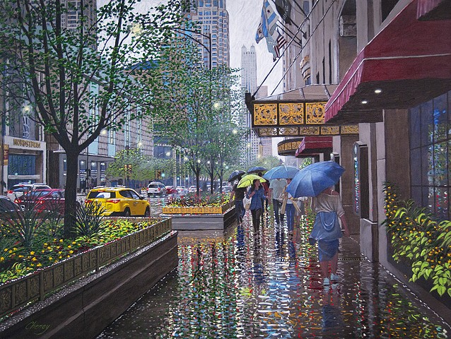 """Rainy Afternoon on the Avenue"""