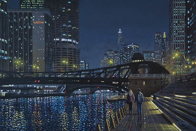 """Strolling on the Chicago River Walk"""