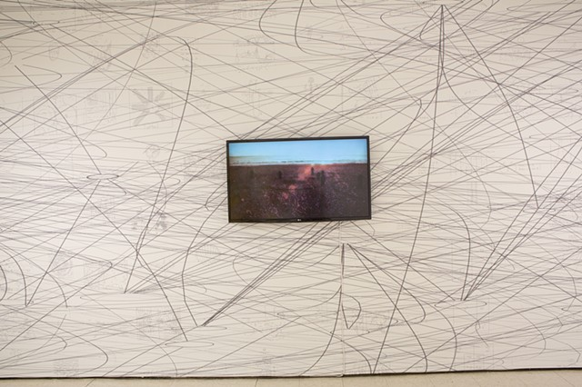 Matthew Ritchie, Installation View, Carol Schlosberg Alumni Gallery, Montserrat College of Art