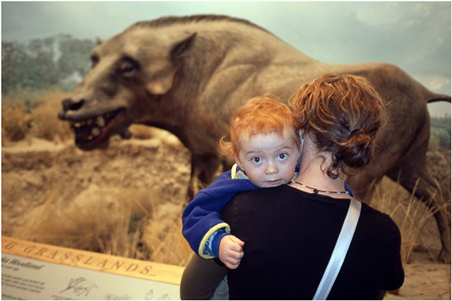 Andrea with Beau, Museum of nature and Science, Denver, Colorado
