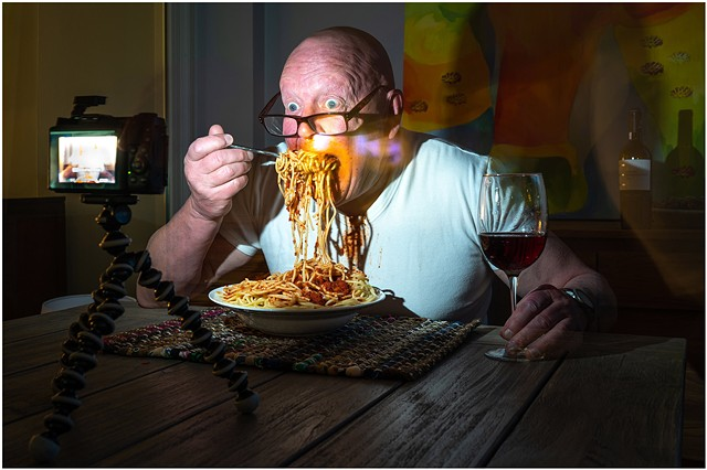 Self-portrait - Thursday night is spaghetti night