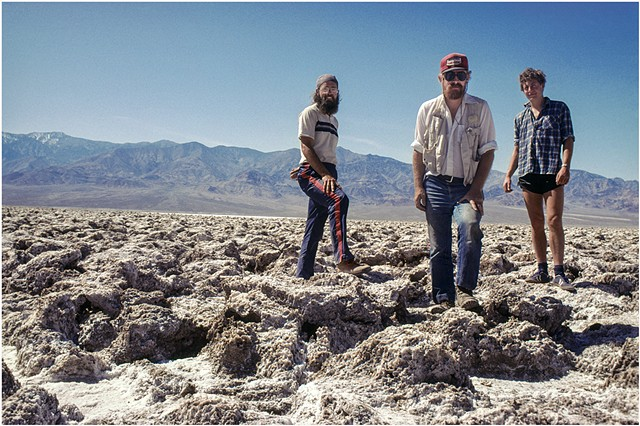 John, and Two Hitchhikers, Death Valley, California