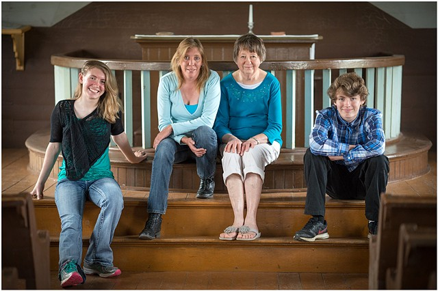 Cori, Bobbi, Marilyn and Connor, Finnish Apostolic Lutheran Church, Savo Township, South Dakota