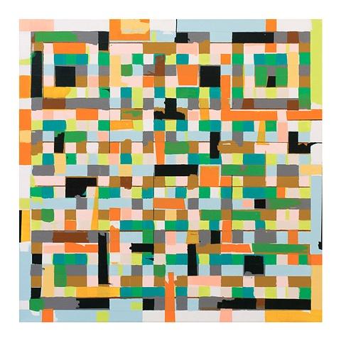Kyle Trowbridge QR code paintings art