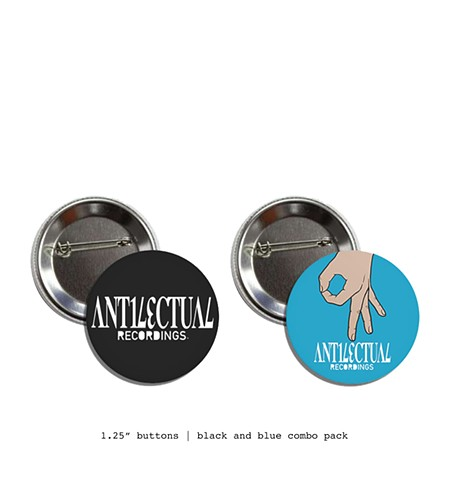 kyle trowbridge art antilectual recordings buttons