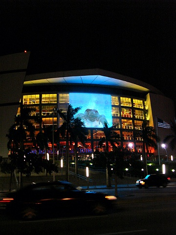 Kyle Trowbridge Art Video Projected at the American Airlines Arena