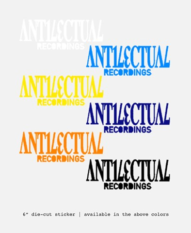 antilectual recording stickers