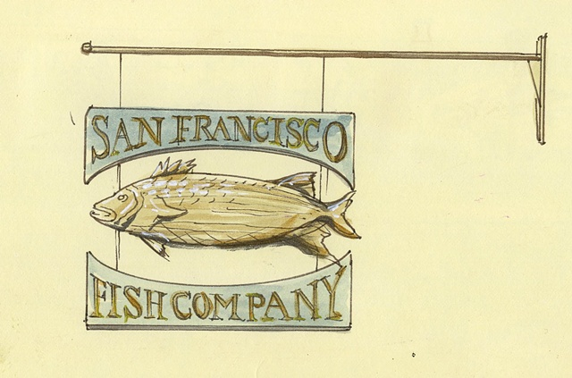 Fish Co. Sign SF Ferry Building