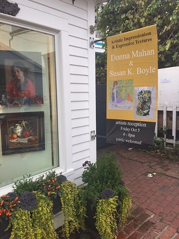 Cortile Gallery in Provincetown, MA features my art