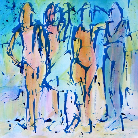 Figurative Abstract Artist, contemporary, figurative painting
