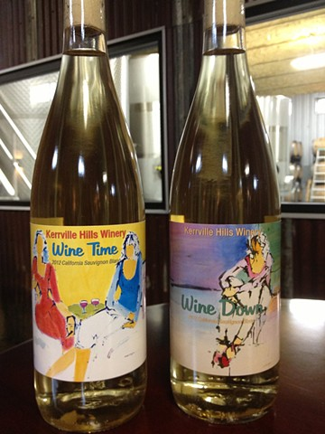 Paintings selected for wine labels