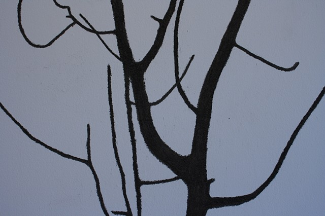branch assisted self portrait (detail)