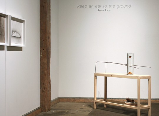 """keep an ear to the ground"" solo exhibition, Hinterland Art Space"
