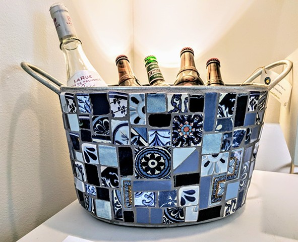 Talavera in Blues Beverage Bucket