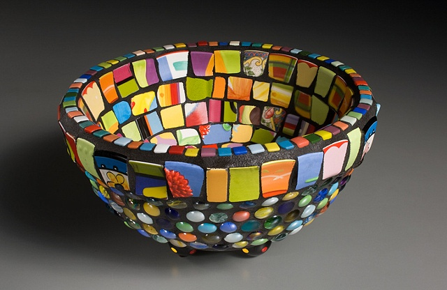 Mosaic mixed media bowl