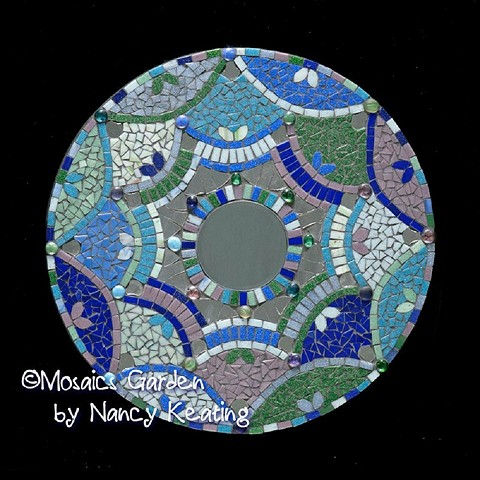 hand cut glass mosaic mandala