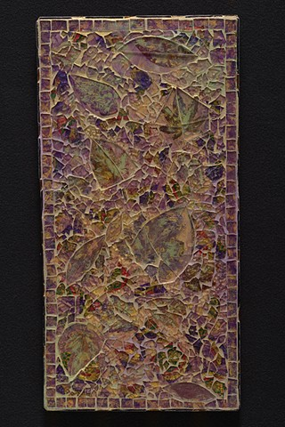 Recycled tempered glass mixed media mosaic