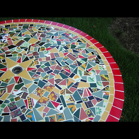 Talavera Patio Table
