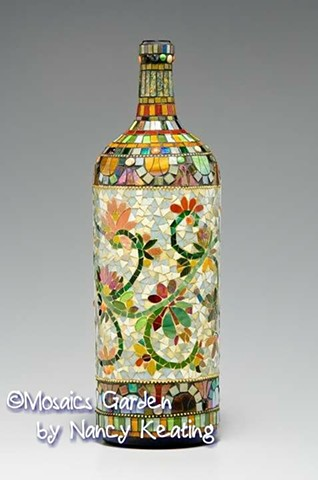 Click ~ Mosaic Bottle Art