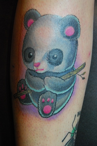 panda tattoo color david zobel