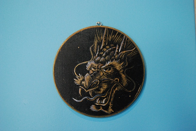 dragon head in gold