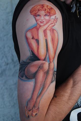 varga pinup tattoo by david zobel  caspian tattoo in lynchburg virginia