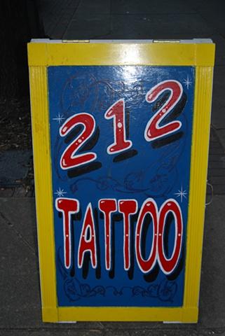 212 sidewalk sign