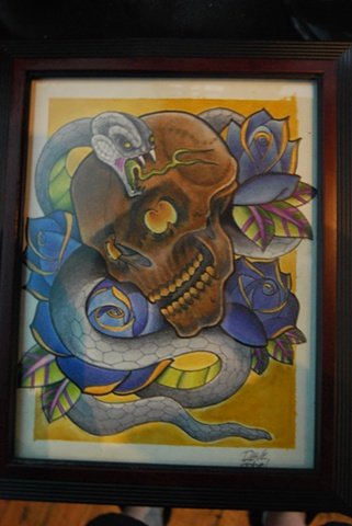 snake and skull for 212