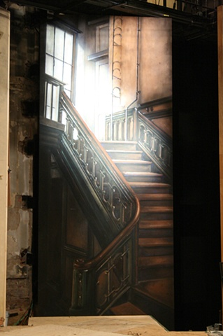 Staircase drop with backlight