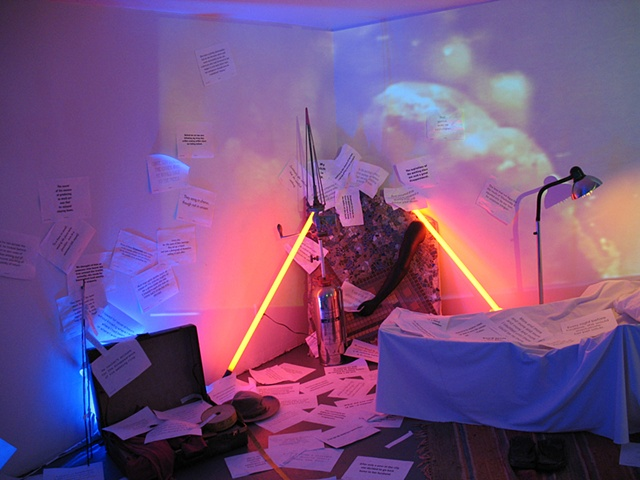 """Epiphanies"" Installation/Performance  FusionArts Museum Lower East Side, NYC"