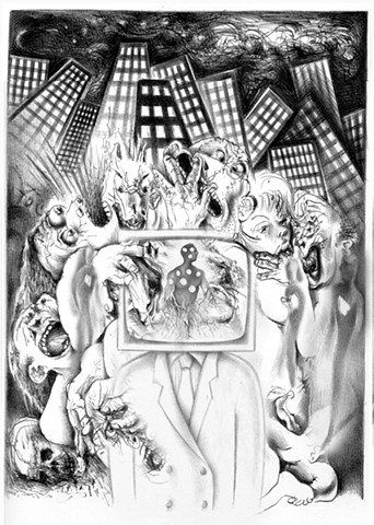 Shalom Neuman -Belle Catastrophe lithograph