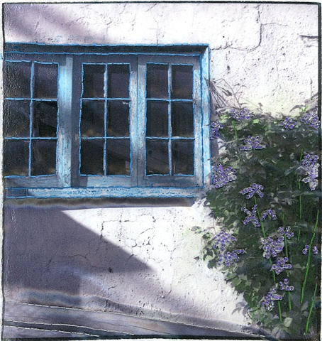 garage and clematis