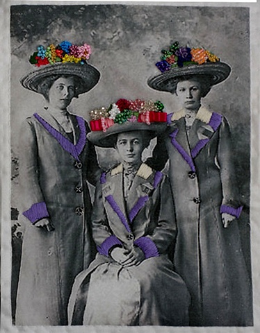three more hats with ladies
