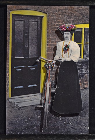 Lady with her Bicycle