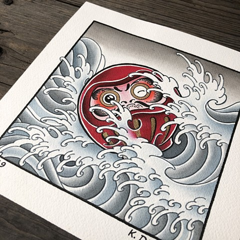 "Daruma  Original for sale 8"" X 8"" $250.  Prints $60.00"