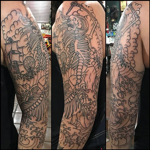 Tattoos in-progress