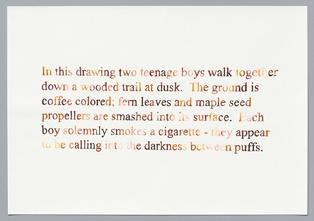 "text watercolor drawing ""Two Boys (watercolor version)"" by artist Joe Hardesty"