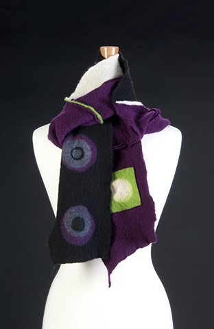 Purple/Green, Blk & White Stitched