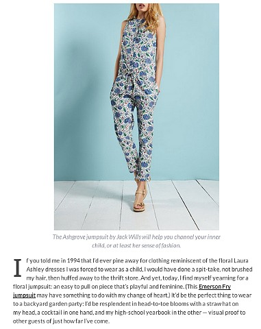 Channeling Laura Ashley with Floral Jumpsuits