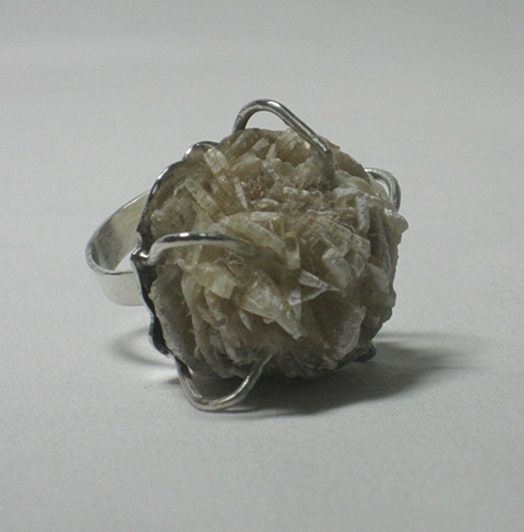 """Rose Gypsum Ring"""