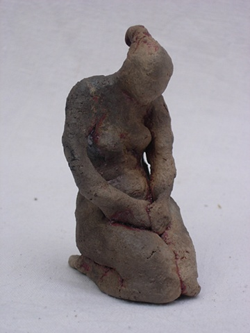 Kneeling Smoked Figurine