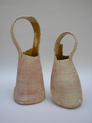 Golden Pink Basket Forms- £75 each, £140 for the pair