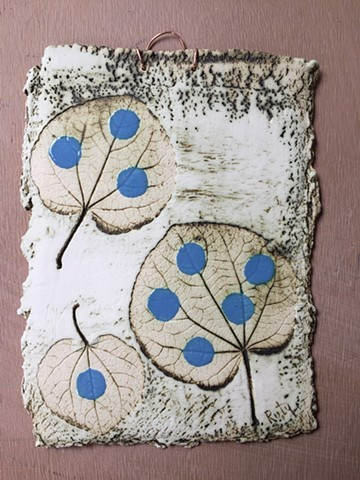 Leaf Imprint - Catalina Blue- £50